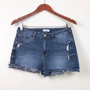Kensie jean shorts, raw bottom hem size 29